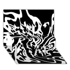 Black And White Decor You Rock 3d Greeting Card (7x5) by Valentinaart