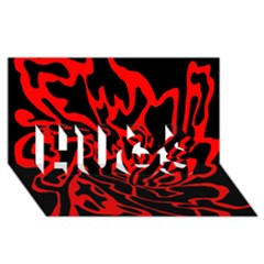 Red And Black Decor Hugs 3d Greeting Card (8x4) by Valentinaart