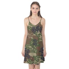 Pixel Woodland Camo Pattern Camis Nightgown by artpics