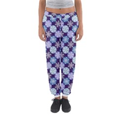 Snowflakes Pattern Women s Jogger Sweatpants by DanaeStudio
