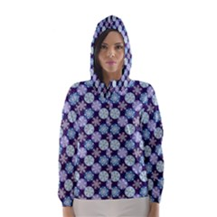 Snowflakes Pattern Hooded Wind Breaker (women) by DanaeStudio
