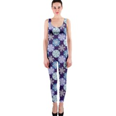 Snowflakes Pattern Onepiece Catsuit by DanaeStudio