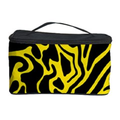 Black And Yellow Cosmetic Storage Case by Valentinaart