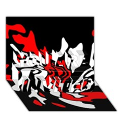 Red, black and white decor YOU ARE INVITED 3D Greeting Card (7x5)