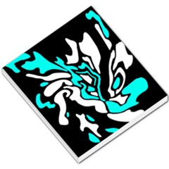 Cyan, Black And White Decor Small Memo Pads