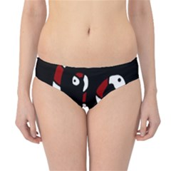 Red Snakes Hipster Bikini Bottoms by Valentinaart
