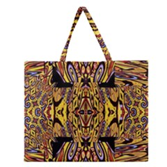 Digital Space Zipper Large Tote Bag by MRTACPANS