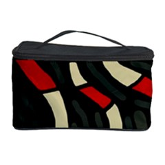 Red Snakes Cosmetic Storage Case by Valentinaart