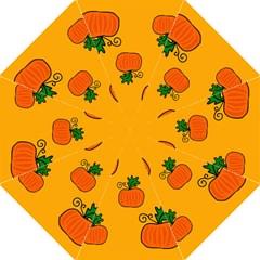 Thanksgiving Pumpkins Pattern Hook Handle Umbrellas (large) by Valentinaart