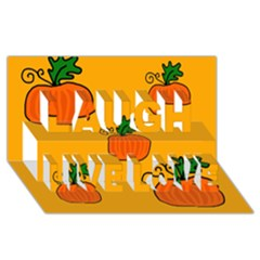 Thanksgiving Pumpkins Pattern Laugh Live Love 3d Greeting Card (8x4) by Valentinaart