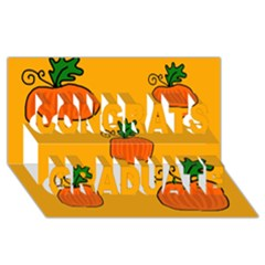 Thanksgiving Pumpkins Pattern Congrats Graduate 3d Greeting Card (8x4) by Valentinaart