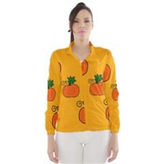 Thanksgiving pumpkins pattern Wind Breaker (Women) by Valentinaart