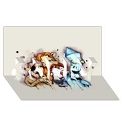 Oz Sorry 3d Greeting Card (8x4) by lvbart