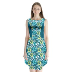Floral Pattern Sleeveless Chiffon Dress   by olgart