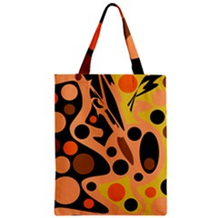 Orange Abstract Decor Zipper Classic Tote Bag by Valentinaart
