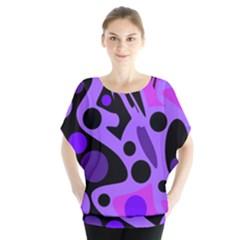 Purple abstract decor Blouse