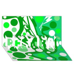 White and green decor BEST BRO 3D Greeting Card (8x4) by Valentinaart