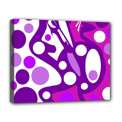 Purple And White Decor Deluxe Canvas 20  X 16   by Valentinaart