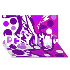 Purple And White Decor Best Bro 3d Greeting Card (8x4) by Valentinaart