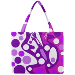 Purple And White Decor Mini Tote Bag by Valentinaart