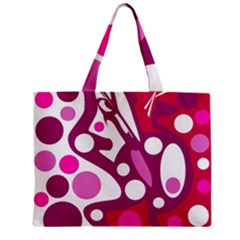 Magenta And White Decor Mini Tote Bag by Valentinaart