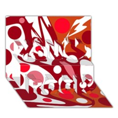 Red And White Decor You Rock 3d Greeting Card (7x5) by Valentinaart
