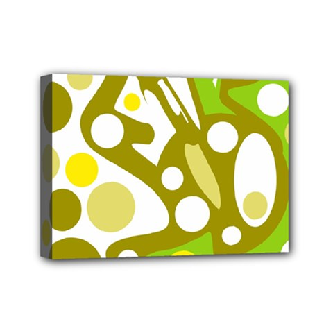Green And Yellow Decor Mini Canvas 7  X 5  by Valentinaart