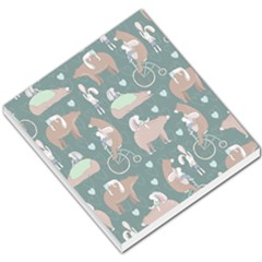 Bear Ruding Unicycle Unique Pop Art All Over Print Small Memo Pads