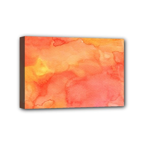 Watercolor Yellow Fall Autumn Real Paint Texture Artists Mini Canvas 6  X 4  by CraftyLittleNodes