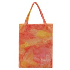 Watercolor Yellow Fall Autumn Real Paint Texture Artists Classic Tote Bag by CraftyLittleNodes