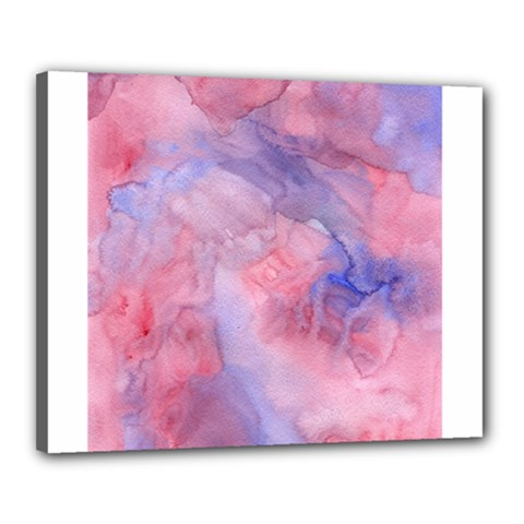 Galaxy Cotton Candy Pink And Blue Watercolor  Canvas 20  X 16  by CraftyLittleNodes