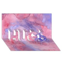 Galaxy Cotton Candy Pink And Blue Watercolor  Hugs 3d Greeting Card (8x4) by CraftyLittleNodes