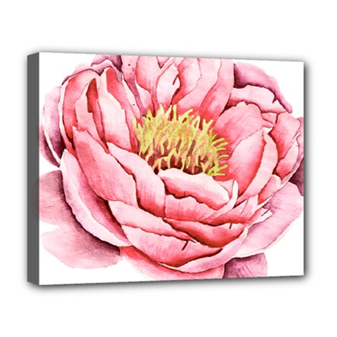 Large Flower Floral Pink Girly Graphic Deluxe Canvas 20  X 16   by CraftyLittleNodes
