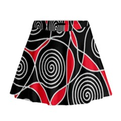 Hypnotic Design Mini Flare Skirt by Valentinaart