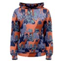 Deer in the winter forest Women s Pullover Hoodie View1
