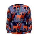 Deer in the winter forest Women s Sweatshirt View1