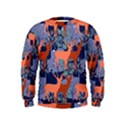 Deer in the winter forest Kids  Sweatshirt View1