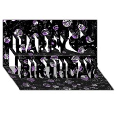 Purple Soul Happy Birthday 3d Greeting Card (8x4)