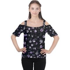Purple Soul Women s Cutout Shoulder Tee by Valentinaart