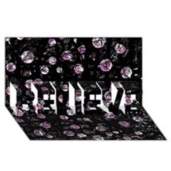 Purple Soul Believe 3d Greeting Card (8x4) by Valentinaart