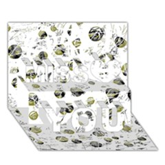 White And Yellow Soul Miss You 3d Greeting Card (7x5)