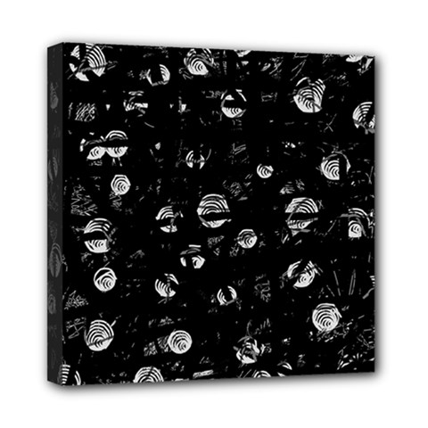 Black And Gray Soul Mini Canvas 8  X 8  by Valentinaart