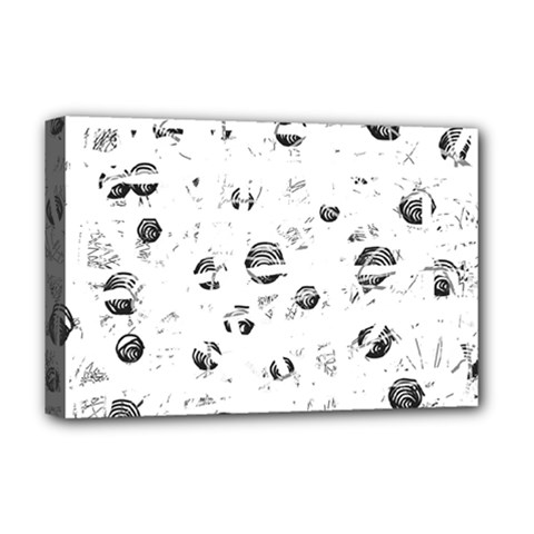 White And Gray Soul Deluxe Canvas 18  X 12   by Valentinaart