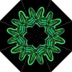 Green Neon Butterfly Golf Umbrellas by Valentinaart