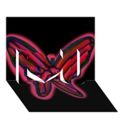 Red Butterfly I Love You 3d Greeting Card (7x5)