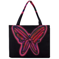 Red Butterfly Mini Tote Bag by Valentinaart