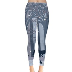 Foxes In The Winter Forest Leggings