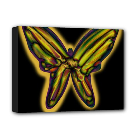 Night Butterfly Deluxe Canvas 16  X 12   by Valentinaart