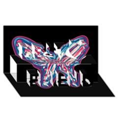 Neon Butterfly Best Friends 3d Greeting Card (8x4)