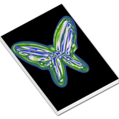 Green Neon Butterfly Large Memo Pads